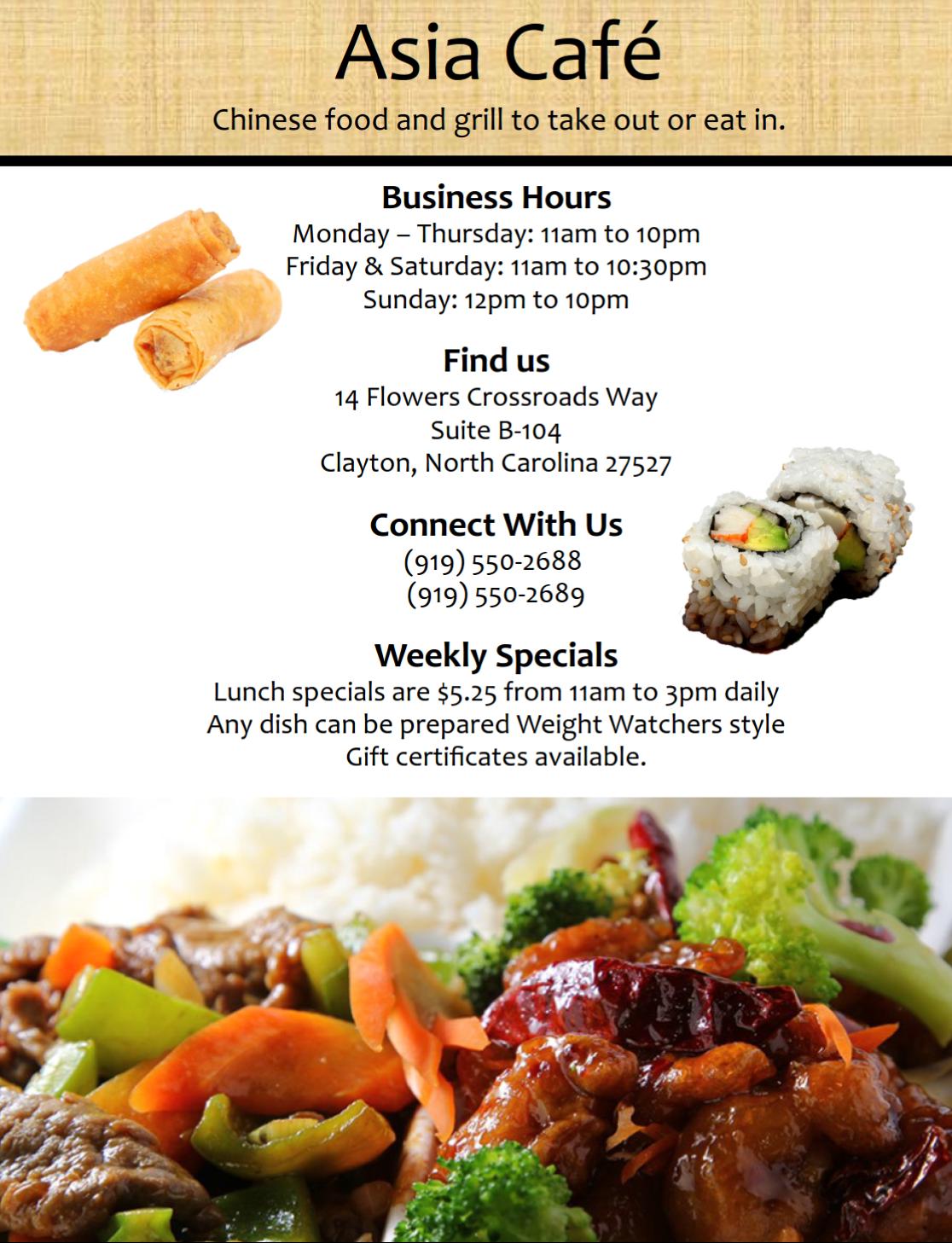 Asia Cafe Flyer